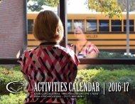 ACTIVITIES CALENDAR   2016-17
