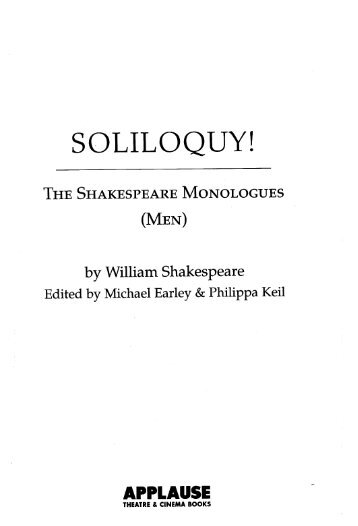 Soliloquy! - The Shakespeare Monologues - Men