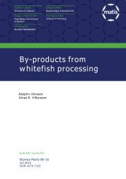 By-products from whitefish processing