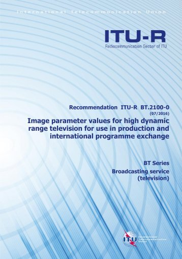 range television for use in production and international programme exchange