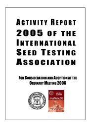 Activity Report 2005 - International Seed Testing Association