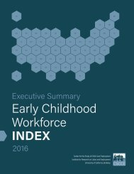 Early Childhood Workforce INDEX