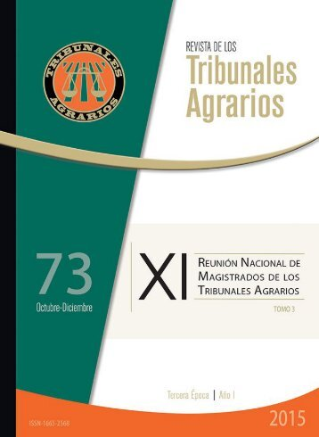 Revista de los Tribunales Agrarios #73