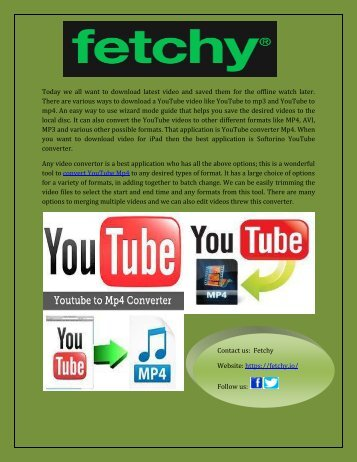 Download youtube video to mp4 quickly and free.