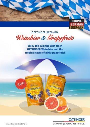 Oettinger Weissbier & Grapefruit