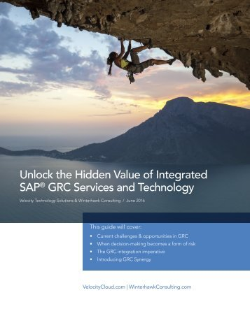 Unlock the Hidden Value of Integrated SAP GRC Services and Technology