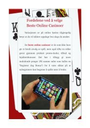 Fordelene ved å velge Beste Online Casinoer