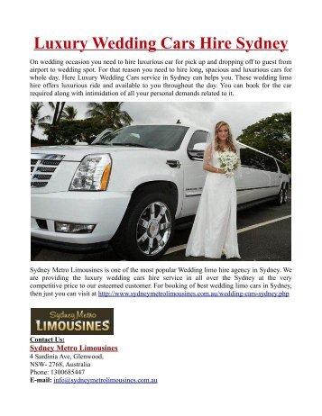 Luxury Wedding Cars Hire Sydney
