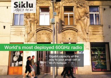 World's most deployed 60GHz radio