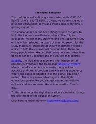 The Digital Education