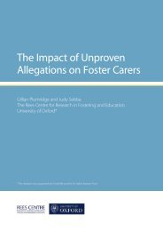 The Impact of Unproven Allegations on Foster Carers
