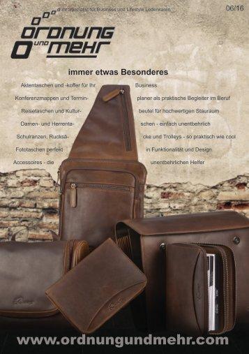 Der Leder-Katalog von Ordnung und mehr