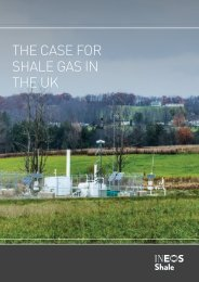 THE CASE FOR SHALE GAS IN THE UK