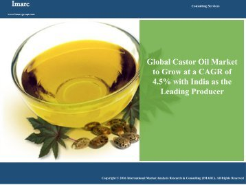 Castor Oil Market Growing At a CAGR of 4.1% During Last Few Years