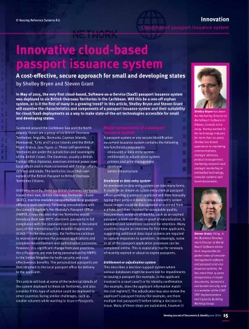 Innovative cloud-based passport issuance system