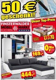 Finsterwalder Möbel- & Küchenmarkt: 50 Euro geschenkt!