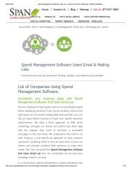 Maximize your ROI with Spend Management Software using companies' mailing lists
