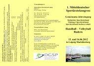 1. Mitteldeutscher Sportärztekongress - DGSP