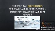 The Global Electronic Warfare Market 2015-2025 - Country Analysis Market Profile
