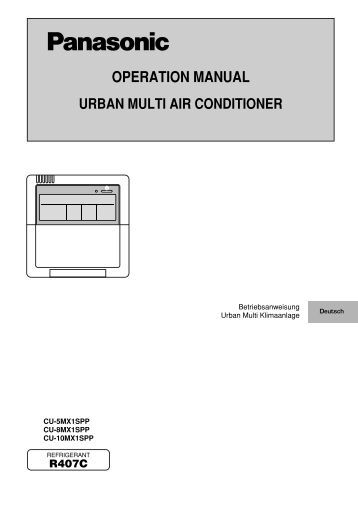 operating instructions for mitsubishi air conditioner
