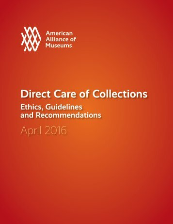 Direct Care of Collections April 2016