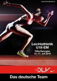 Das deutsche Team bei der U18-EM 2016 in Tiflis