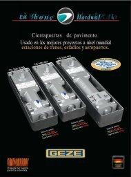 Catálogo De Cierrapuertas Alemanes de Pavimento