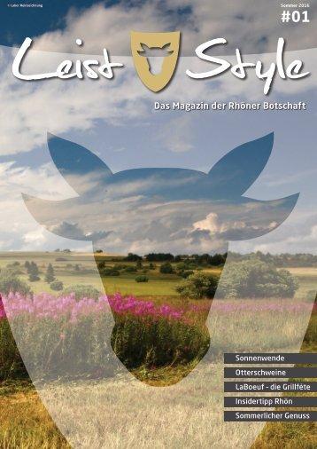 LeistStyle – Das Magazin, Ausgabe 1, Sommer 2016