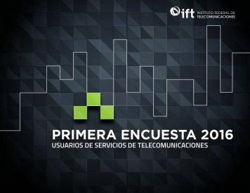 PRIMERA ENCUESTA 2016