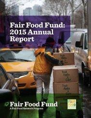 Fair Food Fund 2015 Annual Report