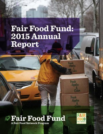 Fair Food Fund 2015 Annual Report