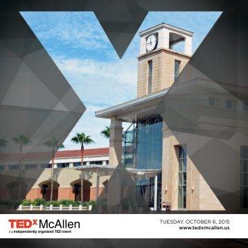 2015 TEDxMcAllen Program