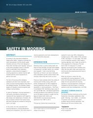 SAFETY IN MOORING