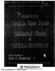 Oscar Zimmerman - The Complete Double Bass Parts Orchestral Works Tschaikowsky