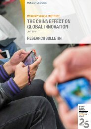 THE CHINA EFFECT ON GLOBAL INNOVATION