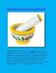 Colorful Handmade Creative Work Masher 4 Inches