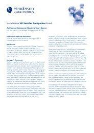 Henderson UK Smaller Companies Fund - Henderson Global ...