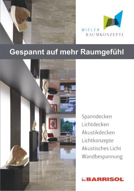 Broschüre Wieler Raumkonzepte Produktpalette