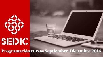 Programación cursos Septiembre-Diciembre 2016