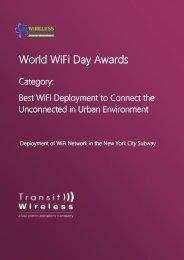 World WiFi Day Awards