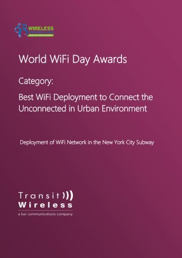 World WiFi Day Awards
