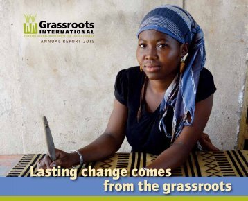 Lasting change comes from the grassroots