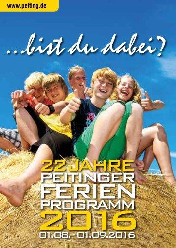 Ferienprogramm 2016 des Marktes Peiting