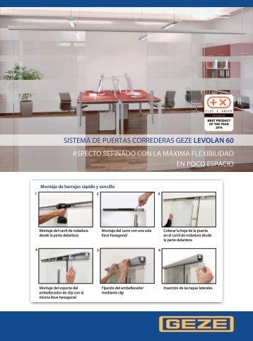 Catálogo Puerta Corredera Levolan 60