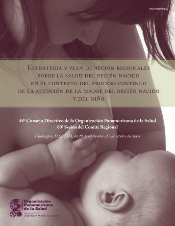Estrategia y Plan de Acción Regionales sobre la Salud ... - part - usaid