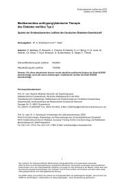 Medikamentöse antihyperglykämische Therapie des Diabetes - AWMF