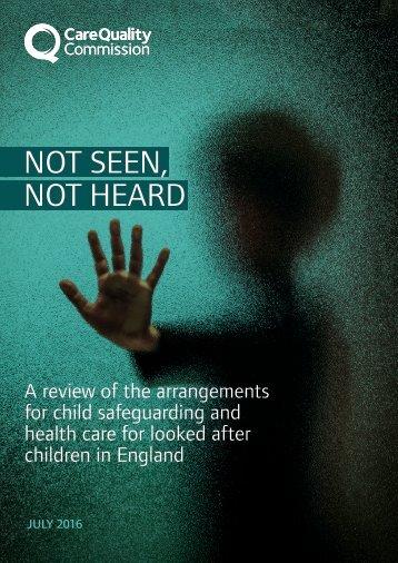 NOT SEEN NOT HEARD
