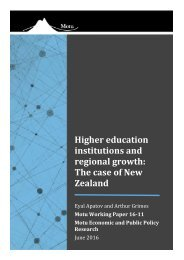 Higher education institutions and regional growth The case of New Zealand