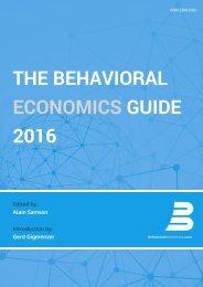 THE BEHAVIORAL ECONOMICS GUIDE 2016
