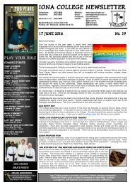 IONA COLLEGE NEWSLETTER